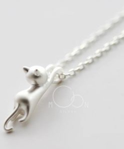 dây chuyền mèo bạc 925