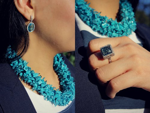 Blue-Topaz-Ring--Blue-Quartz-Earrings--Turquoise-Necklace