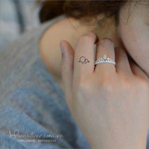 Nhẫn bạc Princess