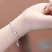 Lắc tay bạc hồ ly đuôi dài