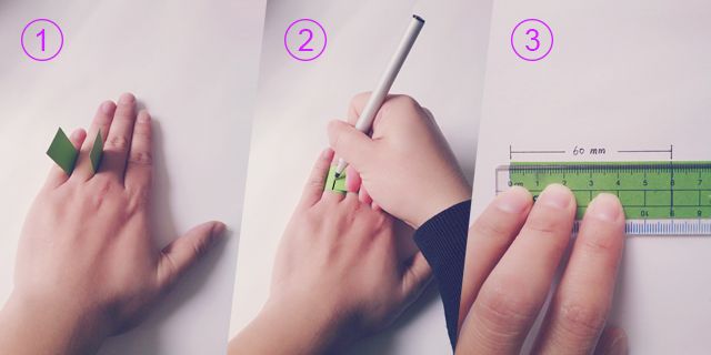 Có thể sử dụng một sợi dây hoặc một mảnh giấy dạng thon dài để tìm ra được số đo này. Đây chính là chu vi ngón tay muốn đeo nhẫn. Từ chu vi này có thể tính ra đường kính hoặc trực tiếp tìm ra size nhẫn tương ứng.