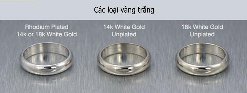 Vàng trắng là gì? Tỷ lệ pha và các loại vàng trắng